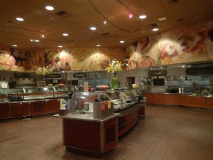 The cafeteria  (which is All-You-Can-Eat Buffet style).