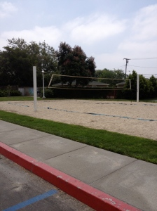 Sand volleyball court right near the dorms!