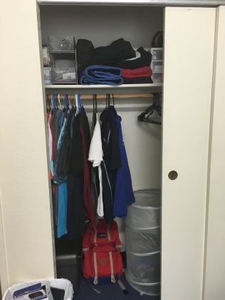 That's one small closet!